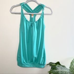 Lucy teal workout tank top size xs